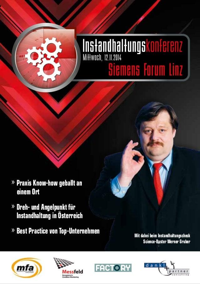 » Praxis Know-how geballt an  einem Ort » Dreh- und Angelpunkt für Instandhaltung in Österreich » Best Practice von Top-U...