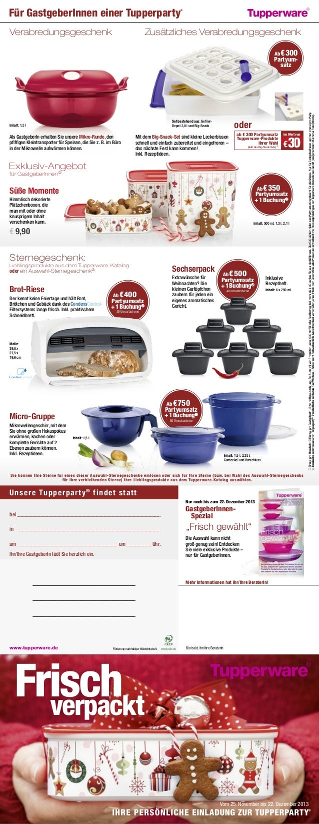 Tupperware Angebote April 2021