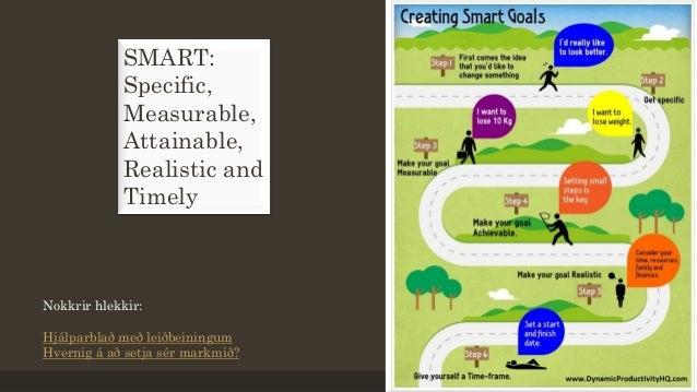 SMART: Specific, Measurable, Attainable, Realistic and Timely Nokkrir hlekkir: Hjálparblað með leiðbeiningum Hvernig á að ...