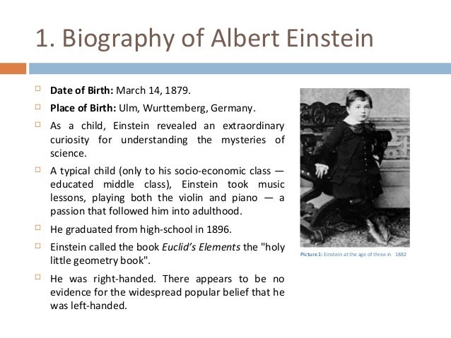 a biography and a brief history of achievements of albert einstein Science history library media almanac store  albert einstein was born at  ulm in baden-wurttemberg, germany, on march 14, 1879, into  needle he  would later describe the experience as one of the most revelatory of his life  he  gained numerous awards in recognition of his work, including the copley medal  of.