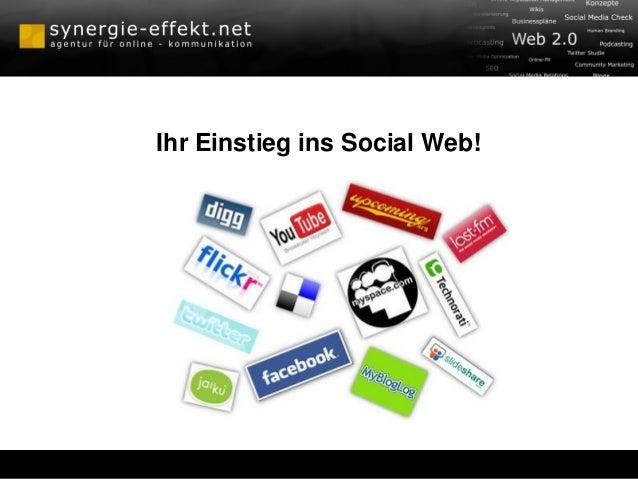 Ihr Einstieg ins Social Web!