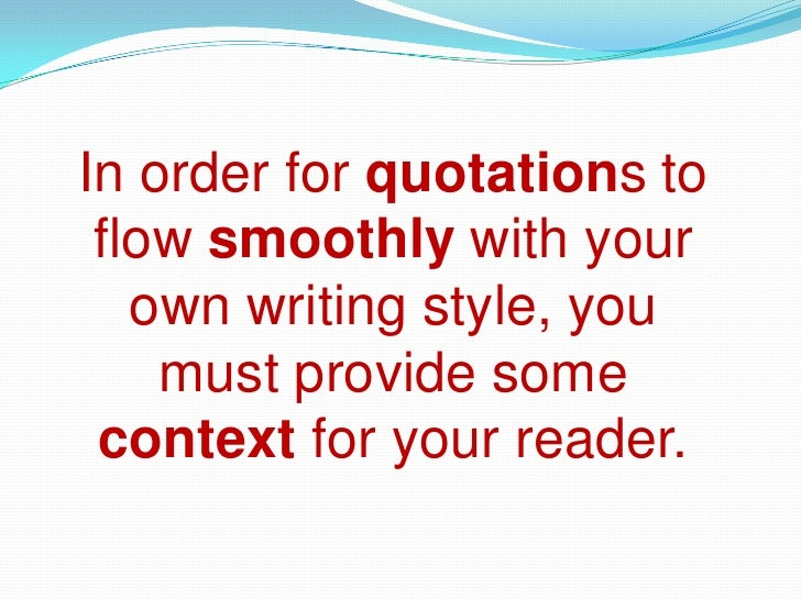 integrating source material essays Using source materials: paper's documentation with your professor and/or a tutor at the writing center another method for incorporating source material.