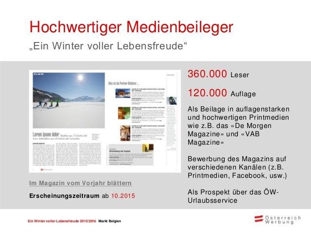 Ein Winter voller Lebensfreude 2015/2016 Markt Belgien Userfreundlich und suchmaschinenoptimiert ca. 85.000 qualitativ hoc...
