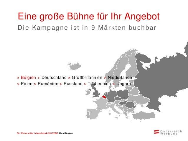 Ein Winter voller Lebensfreude 2015/2016 Markt Belgien Erfolgszahlen Reichweiten der Winterkampagne 2014/2015 325.000Leser...