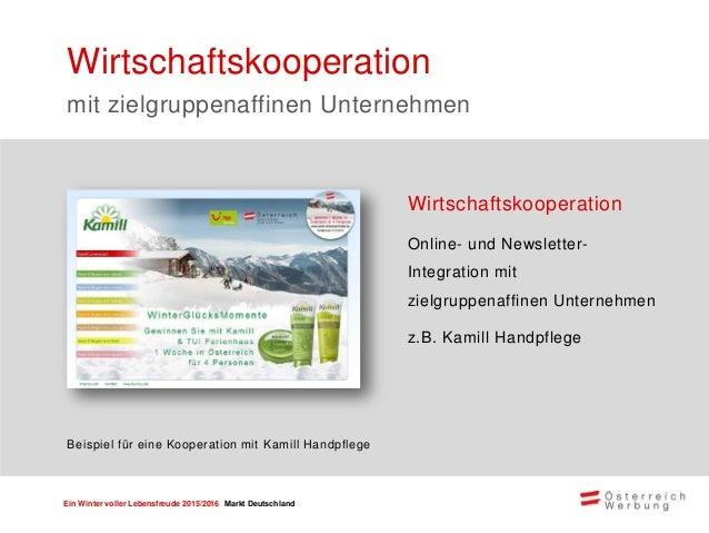 Ein Winter voller Lebensfreude 2015/2016 Markt Deutschland Mystery Calls & E-Mails mit einem unabhängigen Institut Die Erg...
