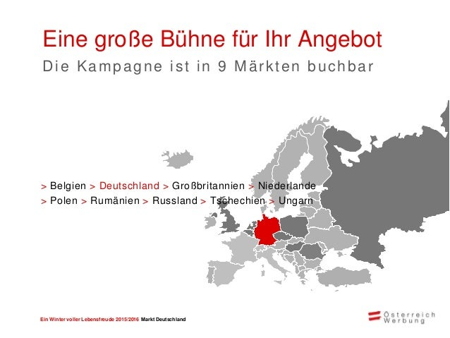 Ein Winter voller Lebensfreude 2015/2016 Markt Deutschland Erfolgszahlen Reichweiten der Winterkampagne 2014/2015* 765.000...