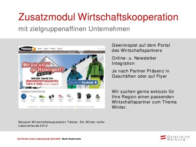 Ein Winter voller Lebensfreude 2015/2016 Markt Niederlande Kooperation mit der größten Online Wintersport Plattform & Comm...