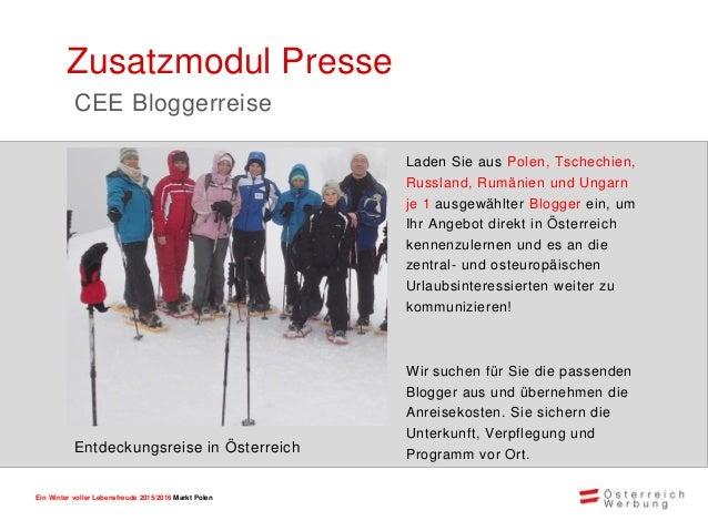 Ein Winter voller Lebensfreude 2015/2016 Markt Polen Teilnahmepakete und Preise GOLD SILBER BRONZE Klassisch • Österreich-...