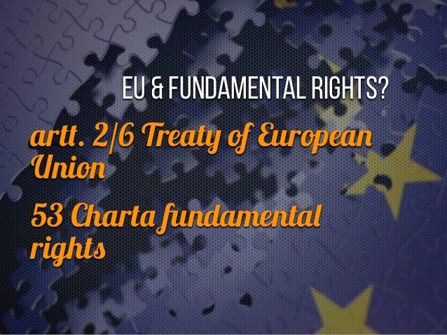 """""""Feindstrafrecht"""" EU & fundamental rights?   art t . 2/6 Treat y of Europea n Unio n  53 Chart a fu ndamenta l right s"""