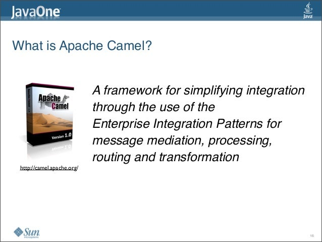 What is Apache Camel? A framework for simplifying integration throughthe use of the Enterprise Integration Patternsfor...