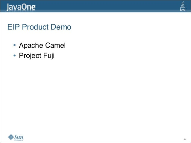 EIP Product Demo • Apache Camel • Project Fuji 44