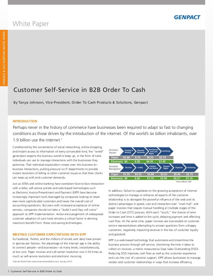White PaperFinance & accounting White PaPer                                          customer Self-Service in B2B order to...