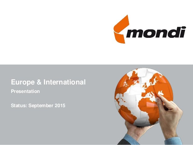 Europe & International Presentation Status: September 2015
