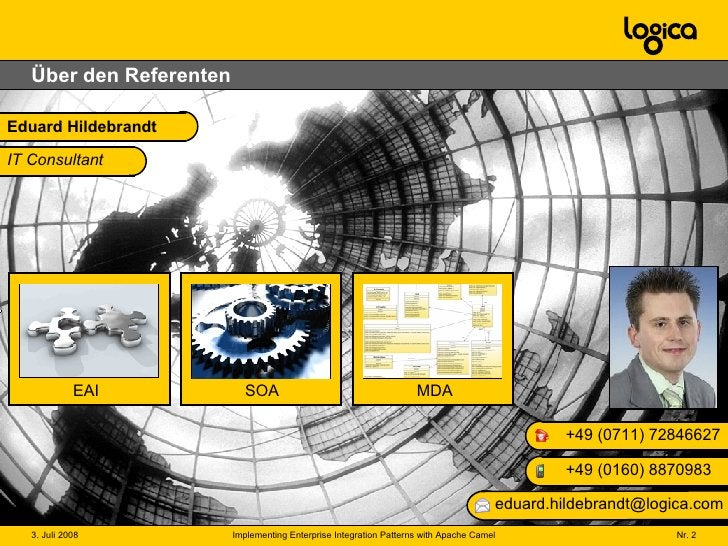 Über den Referenten Eduard Hildebrandt +49 (0 160) 8870983 +49 (0711) 72846627 [email_address] IT Consultant Architekt Ber...