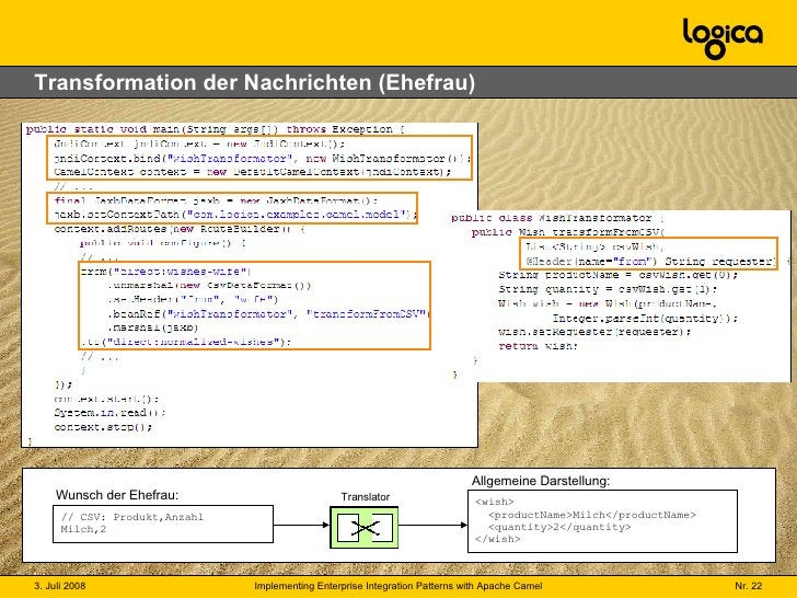 Transformation der Nachrichten (Ehefrau) // CSV: Produkt,Anzahl Milch,2 <wish>   <productName>Milch</productName>   <quant...