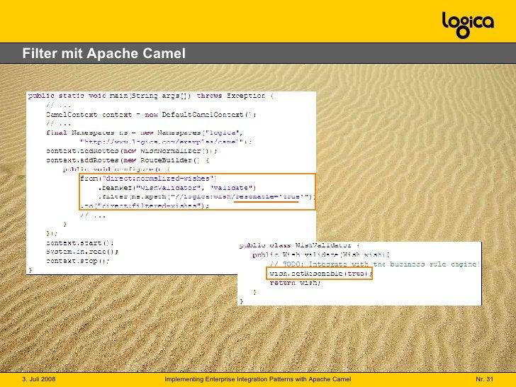 Filter mit Apache Camel