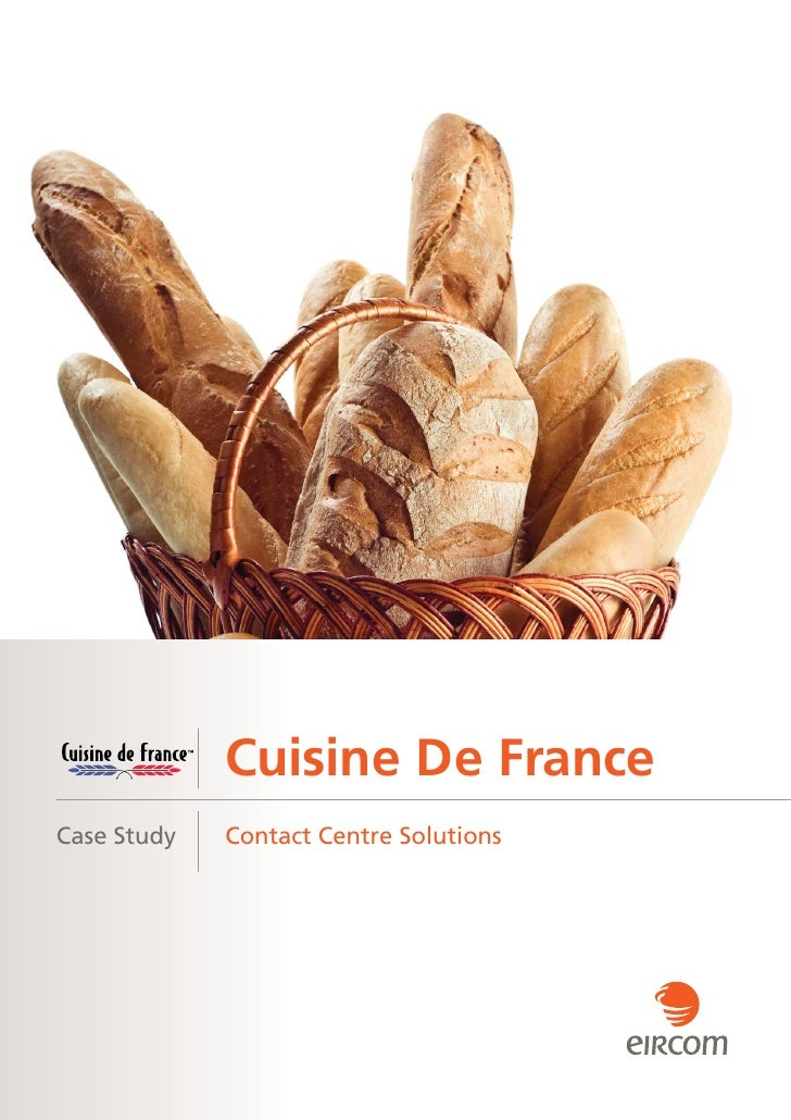 Cuisine de france selected eircom as its contact centre - Cuisine de babette france o ...