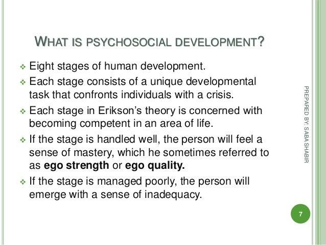 Eirk Erikson's Stages of Psychosocial Development