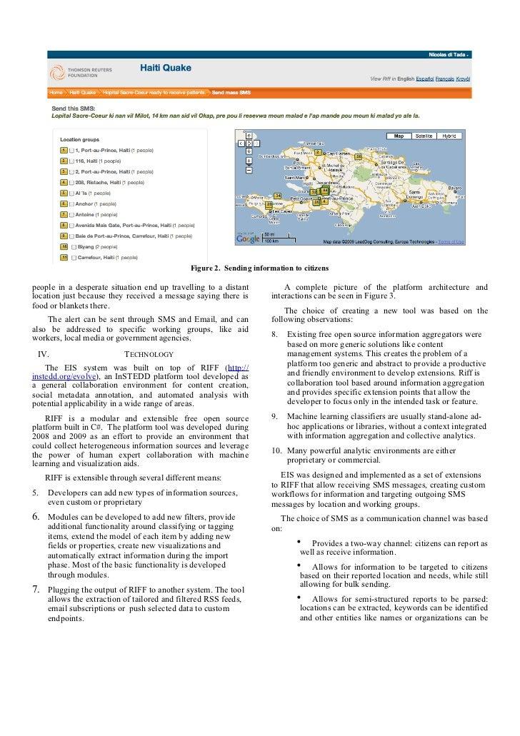 Information System to Assist Survivors of Disasters Slide 3