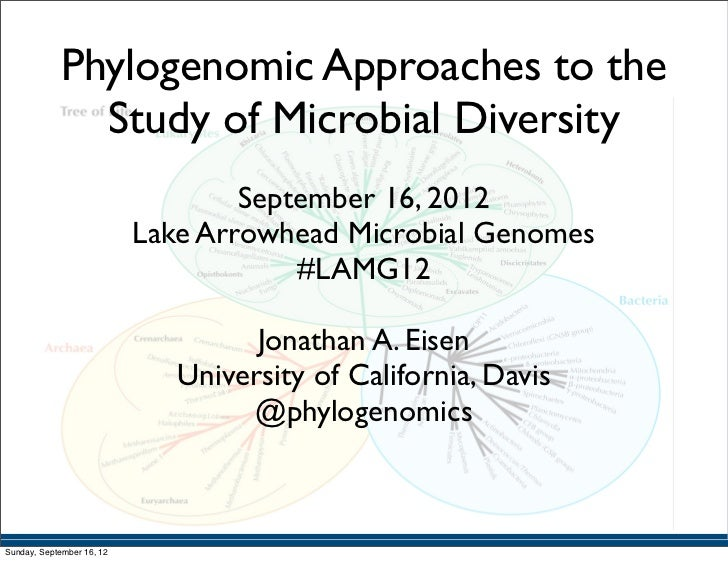 Phylogenomic Approaches to the               Study of Microbial Diversity                                   September 16, ...