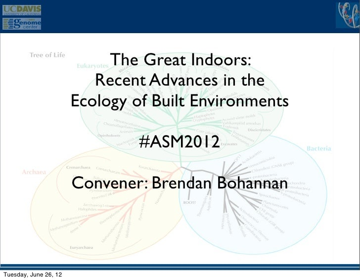 The Great Indoors:                          Recent Advances in the                       Ecology of Built Environments    ...