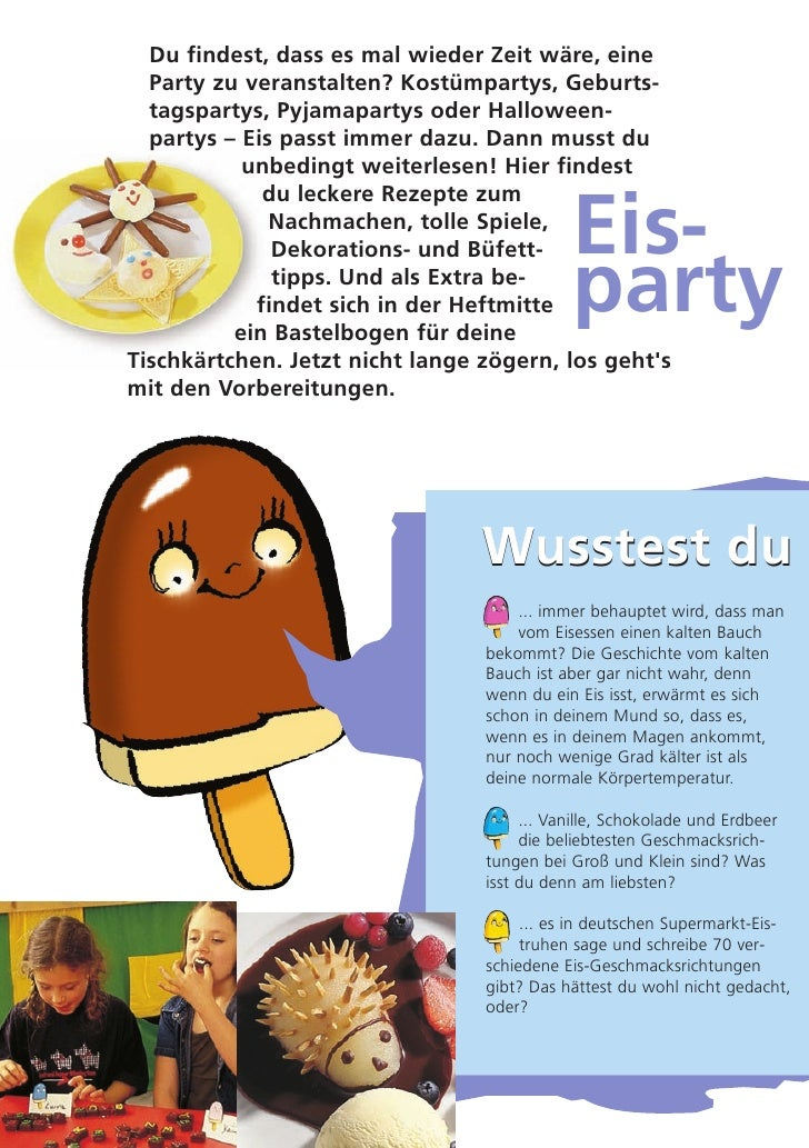 Eisige Ideen Fuer Kinderpartys