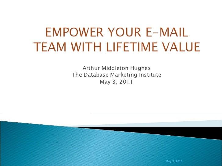 Arthur Middleton Hughes The Database Marketing Institute May 3, 2011 May 3, 2011