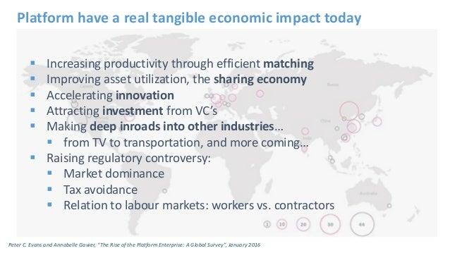 Increasing productivity through efficient matching  Improving asset utilization, the sharing economy  Accelerating inn...