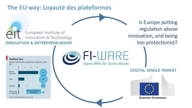 The EU way: Loyauté des plateformes DIGITAL SINGLE MARKET INNOVATION & ENTREPRENEURSHIP Is Europe putting regulation above...