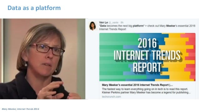 Data as a platform Mary Meeker, Internet Trends 2016