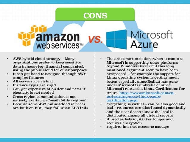 Aws Vs Azure A High Level Comparison Between The Giants
