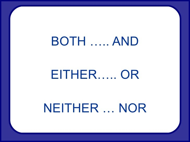 how to say either and neither