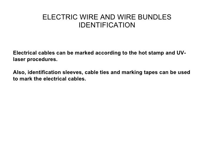 training for electrical harness equipment and their usage