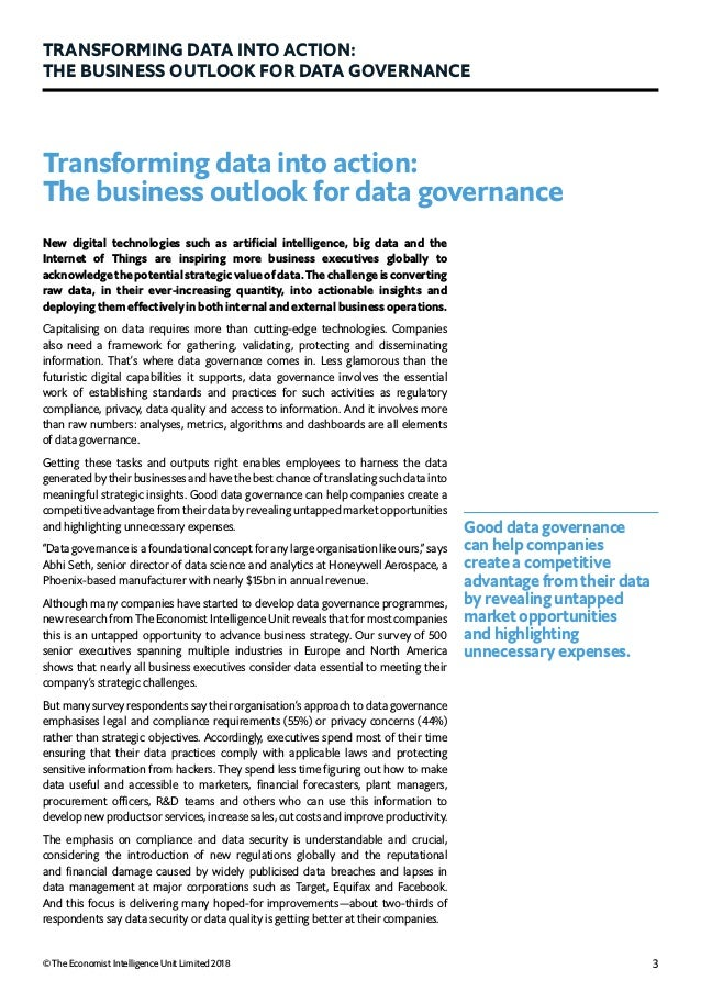 Eiu collibra transforming data into action-the business outlook for data governance Slide 3