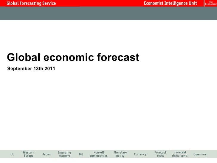 Global economic forecast September 13th 2011
