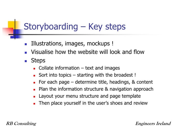 Storyboarding Website Romeondinez