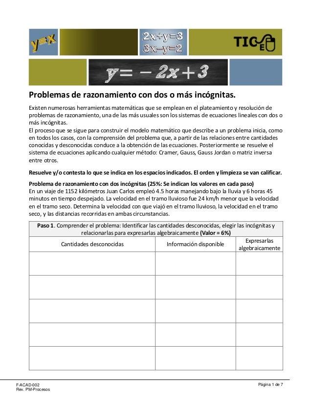 Ej 04 álgebra lineal problemas dos o más incógnitas