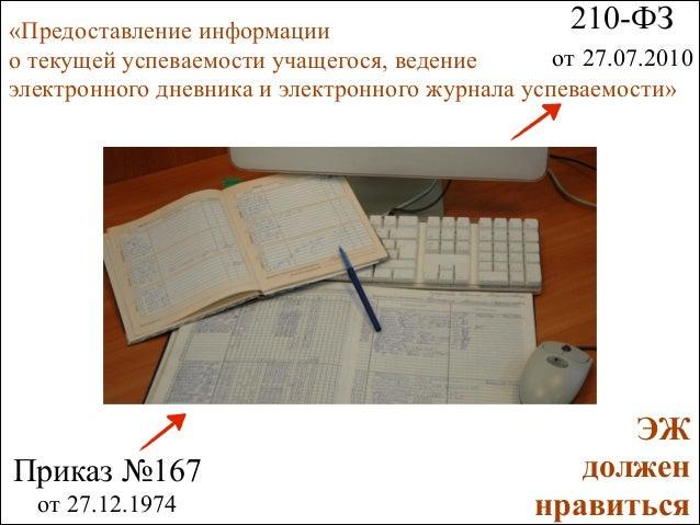 210-ФЗ   «Предоставление информации  от 27.07.2010 о текущей успеваемости учащегося, ведение  электронного дневника и э...