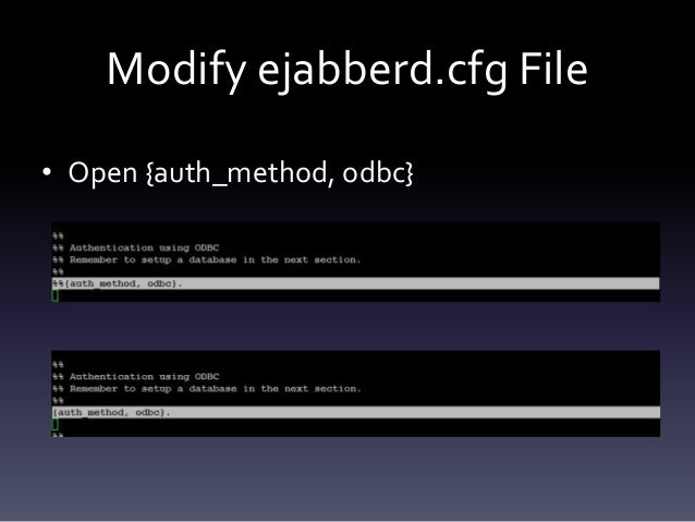 Open .cfg File