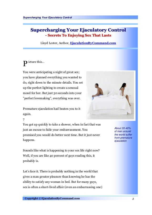 What to do to last longer during sex