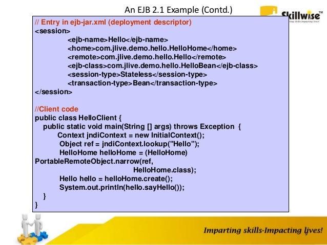 Tutorial: ejb3 overview for the component developer exam.