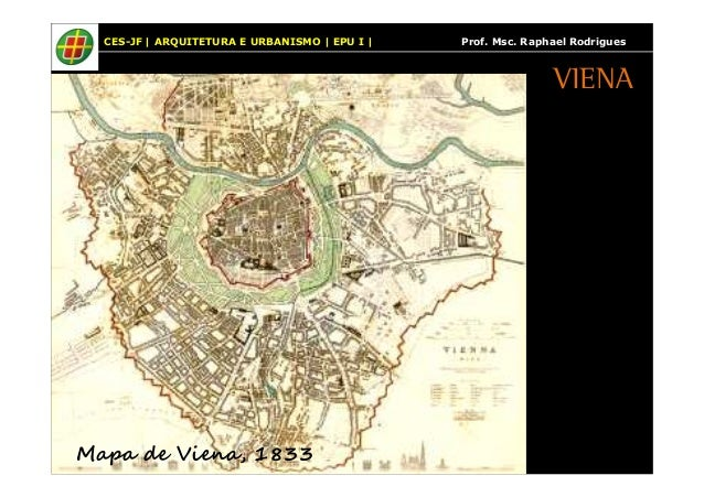 CES-JF | ARQUITETURA E URBANISMO | EPU I | Prof. Msc. Raphael Rodrigues  Mapa de Viena, 1833  VIENA