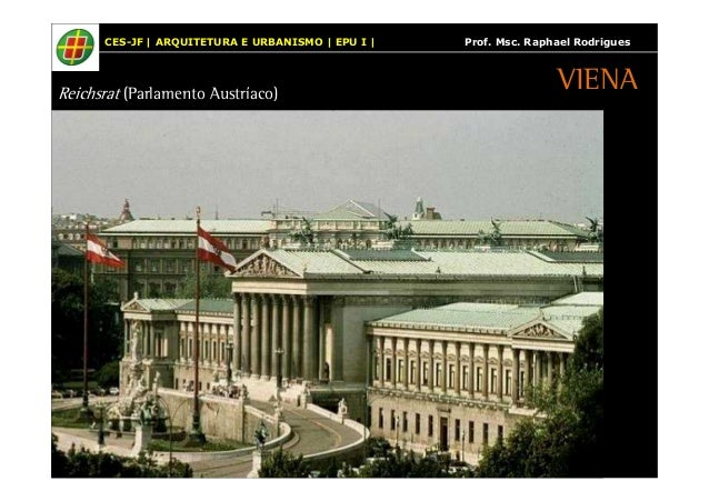 CES-JF | ARQUITETURA E URBANISMO | EPU I | Prof. Msc. Raphael Rodrigues  Reichsrat (Parlamento Austríaco)  VIENA