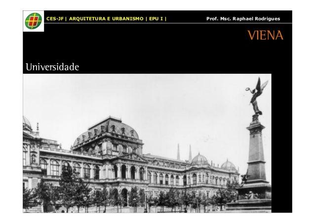 CES-JF | ARQUITETURA E URBANISMO | EPU I | Prof. Msc. Raphael Rodrigues  Universidade  VIENA