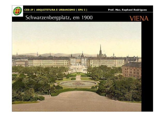 CES-JF | ARQUITETURA E URBANISMO | EPU I | Prof. Msc. Raphael Rodrigues  Schwarzenbergplatz, em 1900  VIENA
