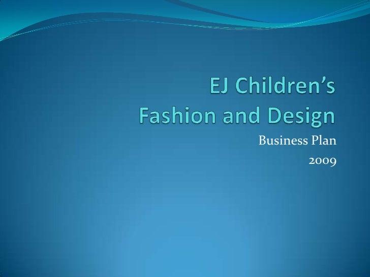 Business Plan         2009