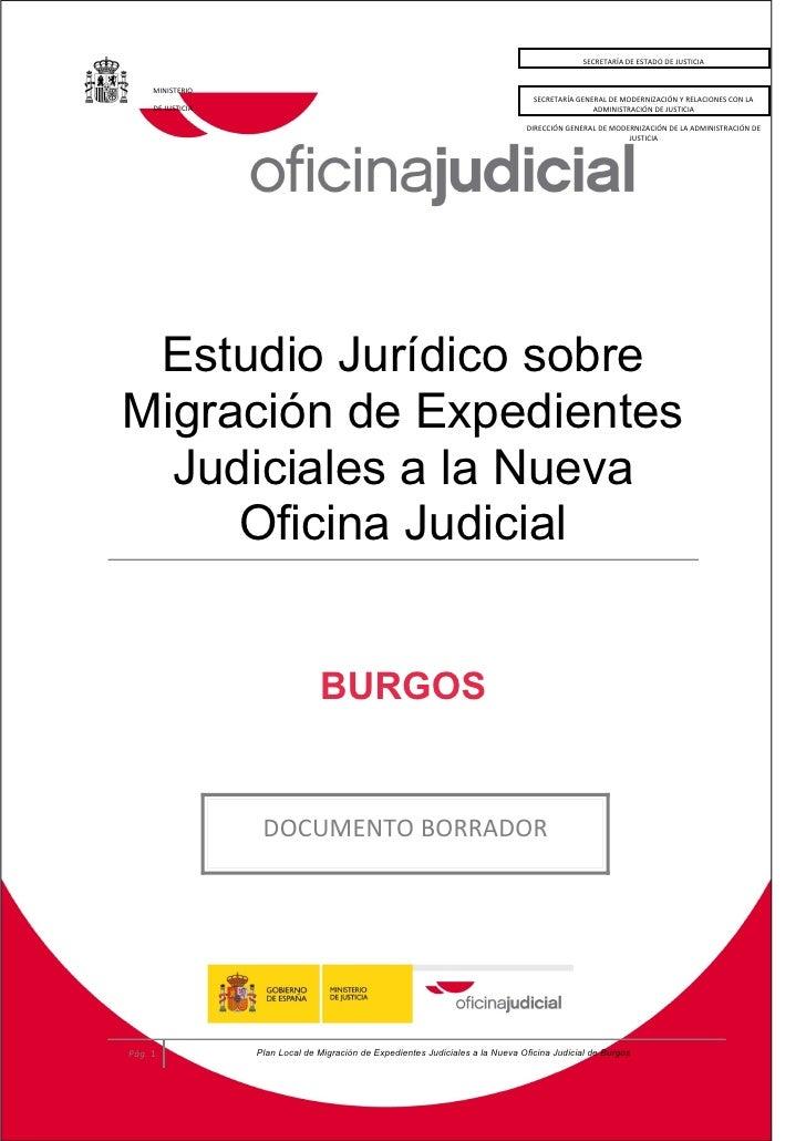 Estudio jur dico sobre migraci n de expedientes judiciales for Oficina de turismo burgos
