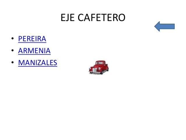 EJE CAFETERO • PEREIRA • ARMENIA • MANIZALES