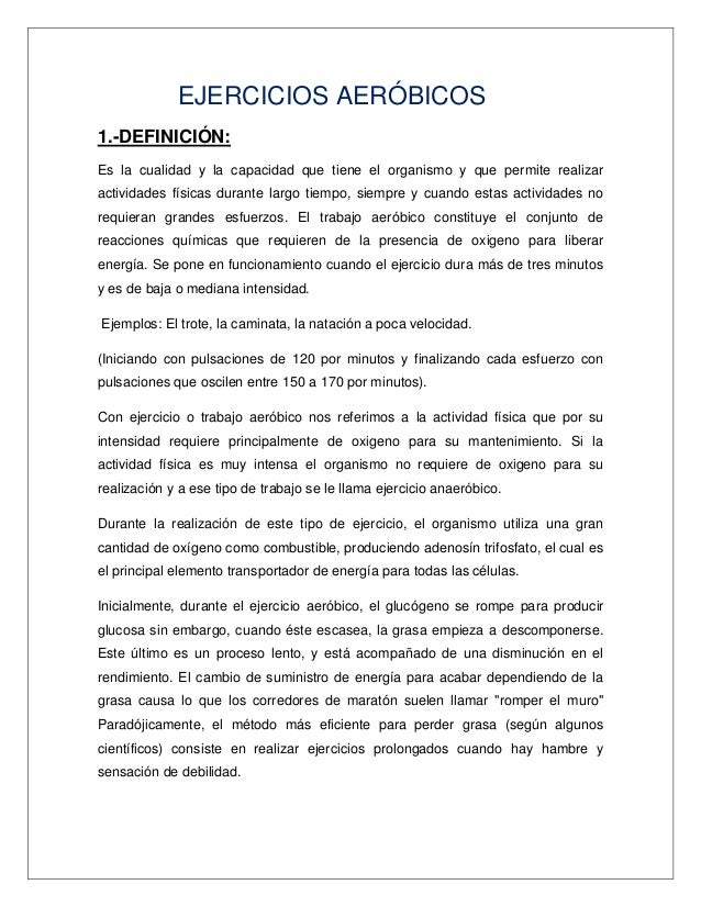Ejemplos De Ejercicios Aerobicos Related Keywords