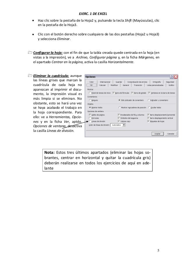 Ejercicios microsoft excel 2010